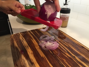 slice your red onions thin.