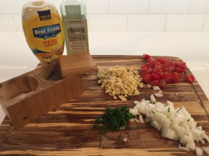 Pasta Salad ingrediants