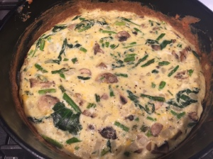 Frittata out of the oven.