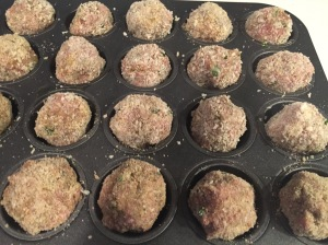 Turkey Meatball ready for the oven.