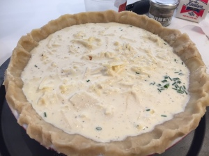 quiche before the oven