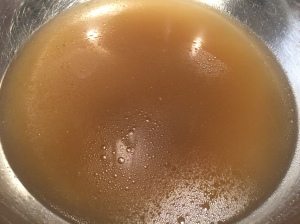 Fresh chicken stock