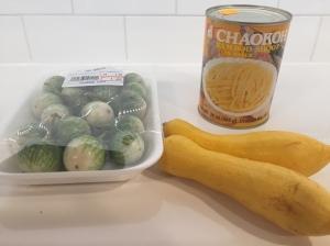 Thai Eggplant, bamboo shoots and yellow squash