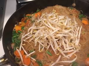 Add bean sprouts at the end